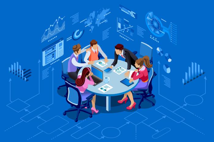 企業は「全社横断的なチーム」で「導入計画を策定」してテレワーク推進をサポート